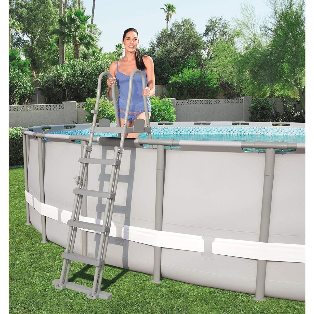 Bestway Poolleiter Sicherheitsleiter Einstiegsleiter 132cm Schwimmbadleiter Pool