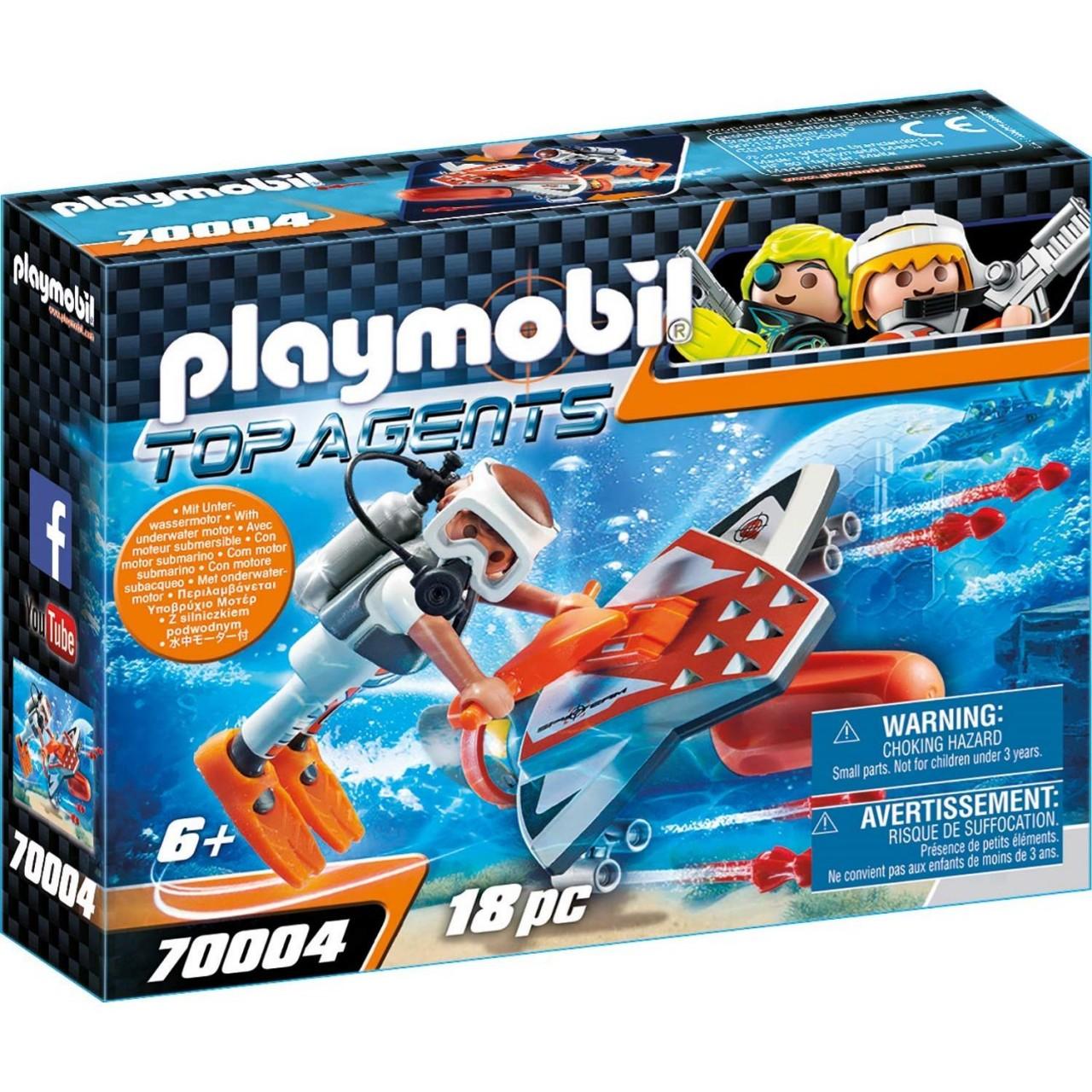 Playmobil 70004 SPY TEAM Underwater Wing