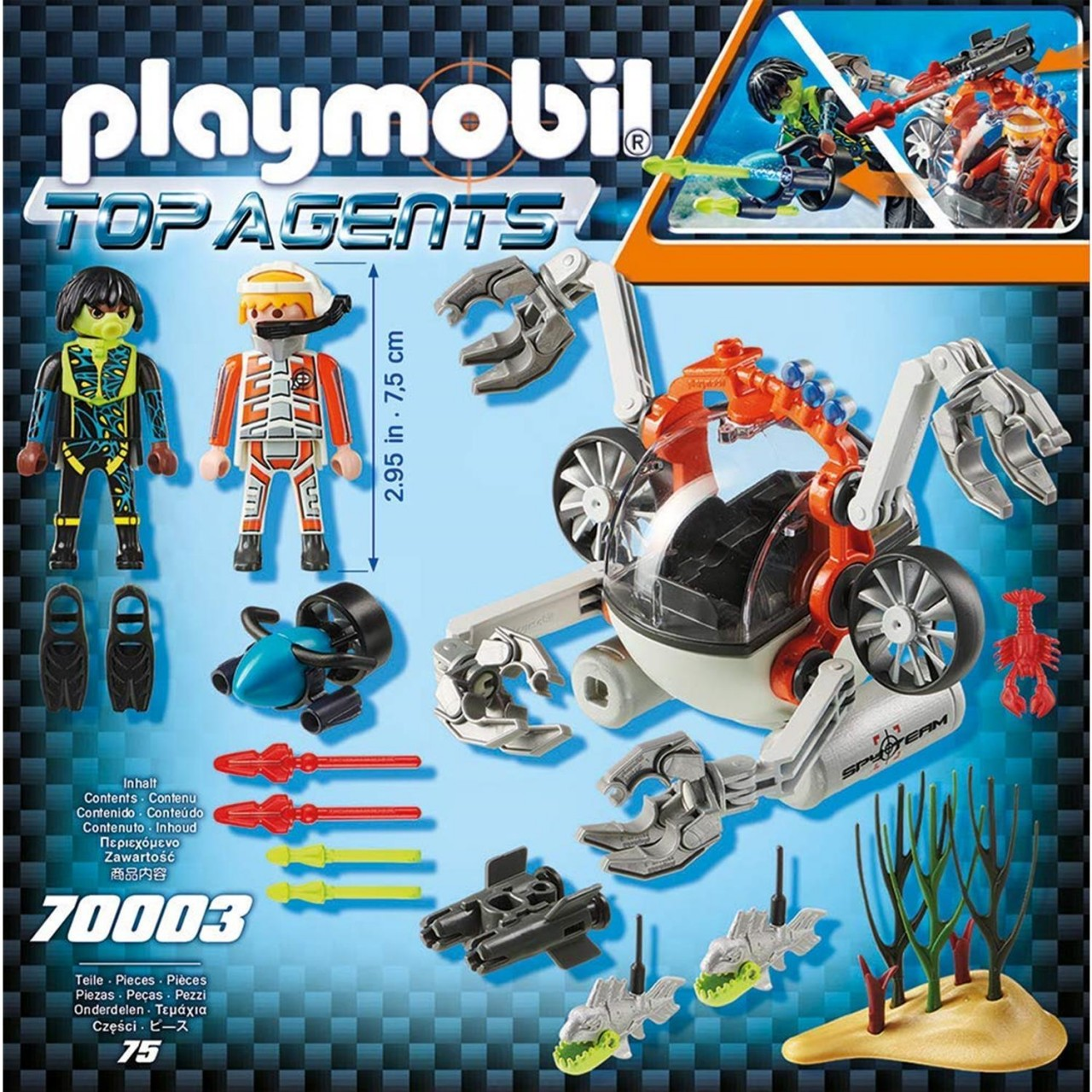 Playmobil 70003 SPY TEAM Sub Bot
