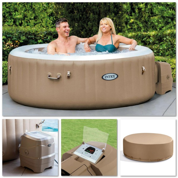 Intex 28476 Whirlpool Pure SPA Bubble Massage 196x71 cm aufblasbar 4 Personen