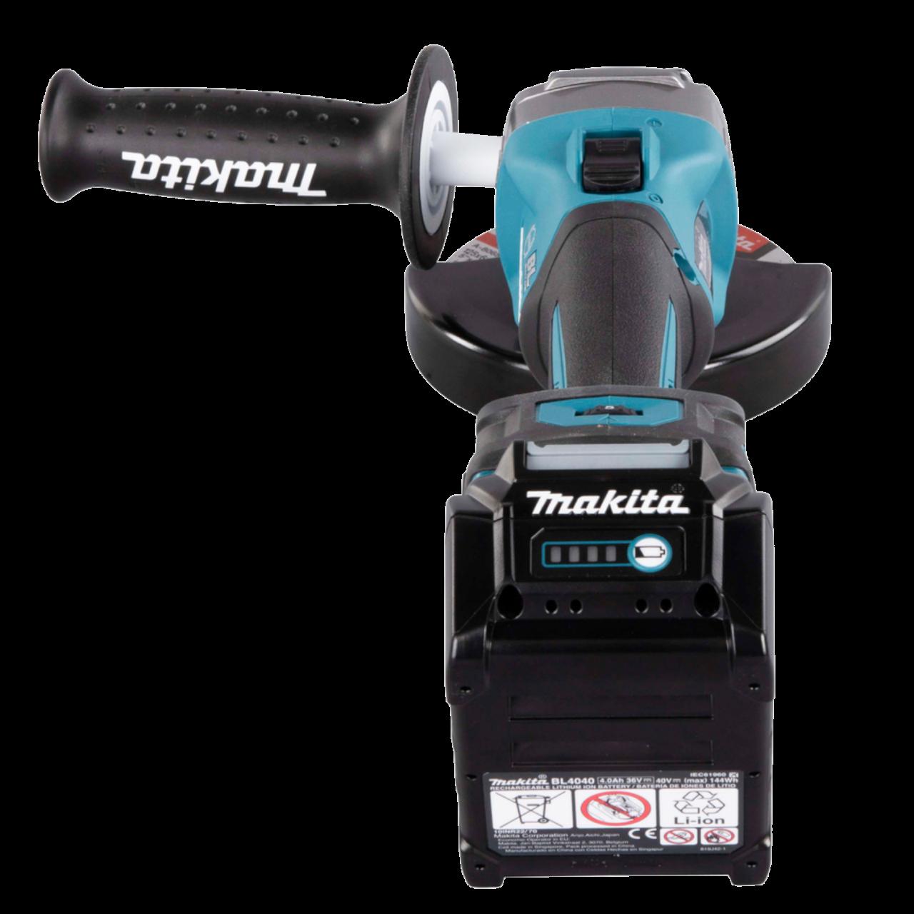 Makita GA023GM201 Akku-Winkelschleifer XGT im MAKPAC Gr. 4, 40V max., 125 mm, 3.000-8.500 min-1