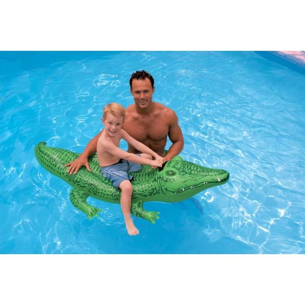 Intex Aufblasbares Krokodil Badetier Schwimmtier 168 x 86cm Badespielzeug 58546