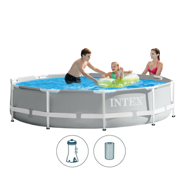Intex 26702 Swimming Pool Set Frame Prism Ø305 x 76 cm Pumpe Schwimmbecken Pool
