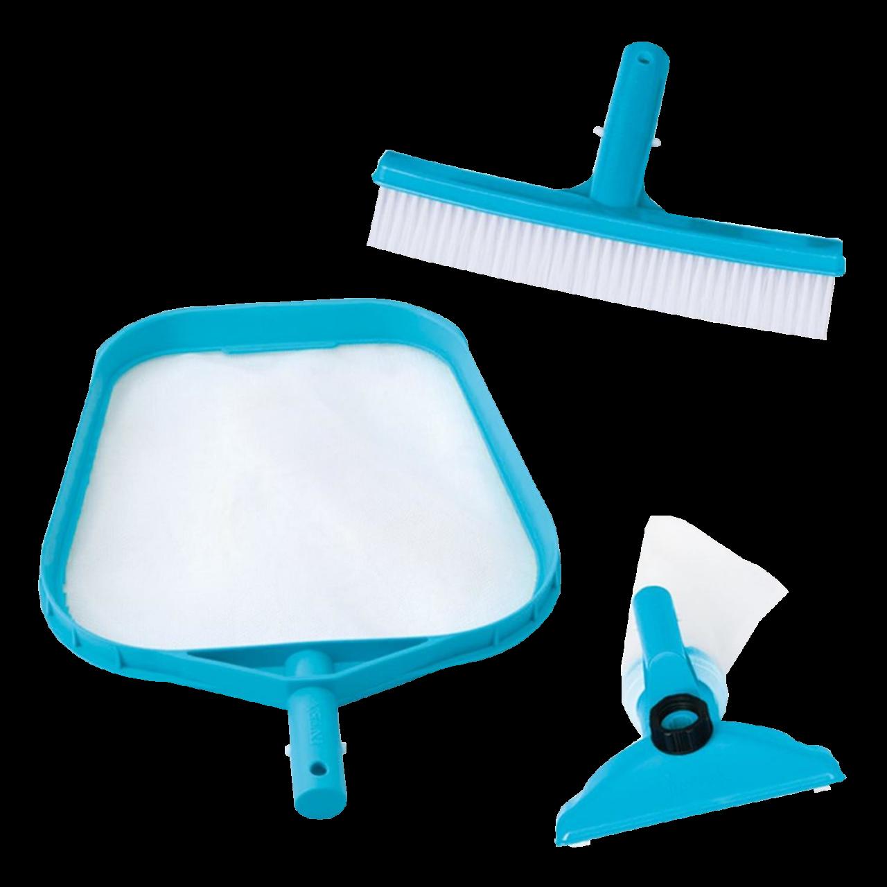 Intex Reinigungsset Basic Pool Bodensauger Laub- Bodenkescher Reinigungsbürste