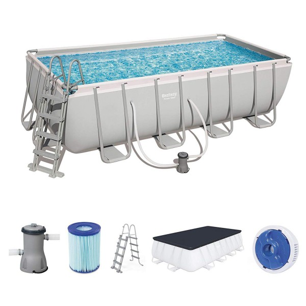 Bestway 56670 Power Steel Rectangular Frame Pool Set 488x244x122cm