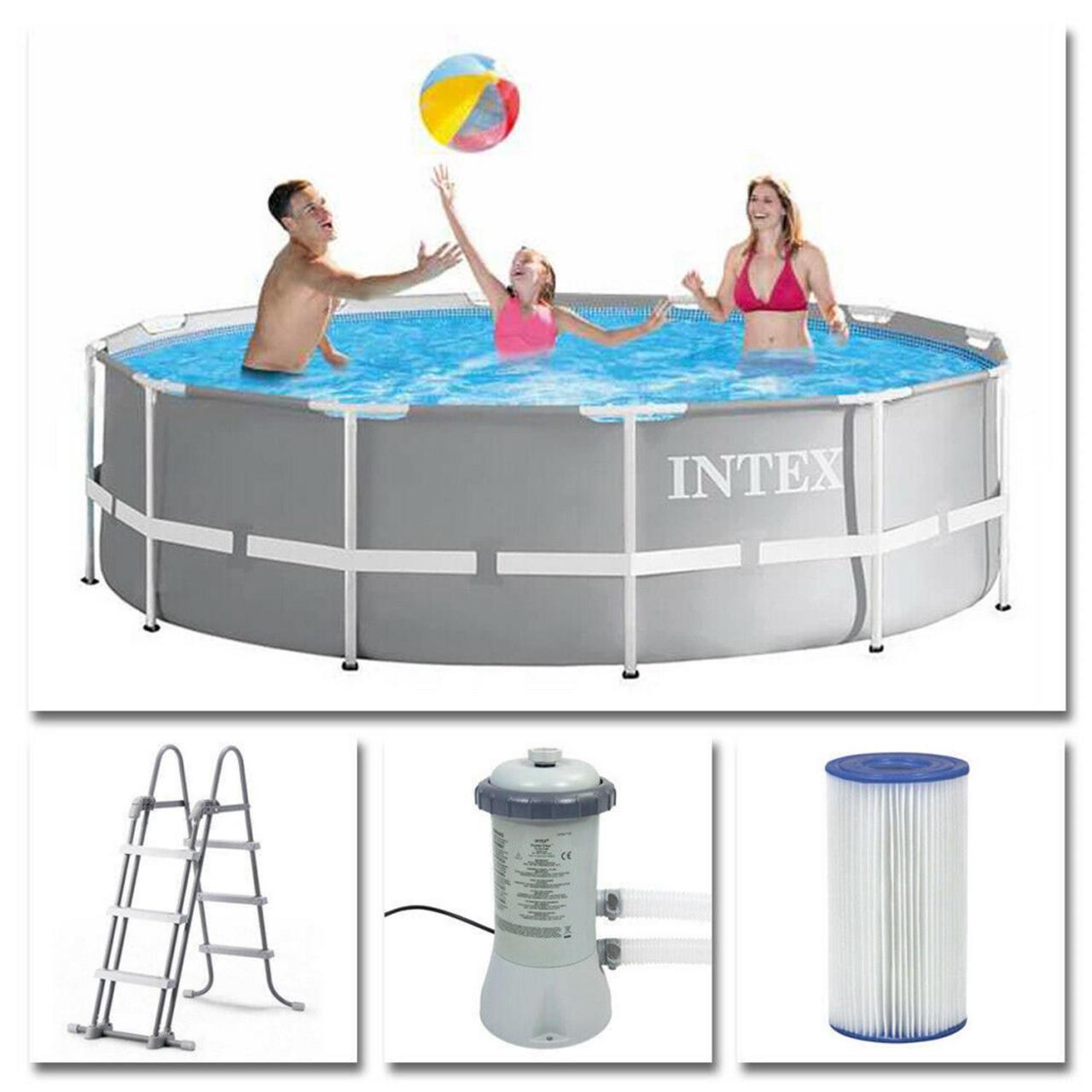 Intex 26716 Frame Pool Set Prism Rondo Ø 366 x 99 cm Schwimmbecken Pool
