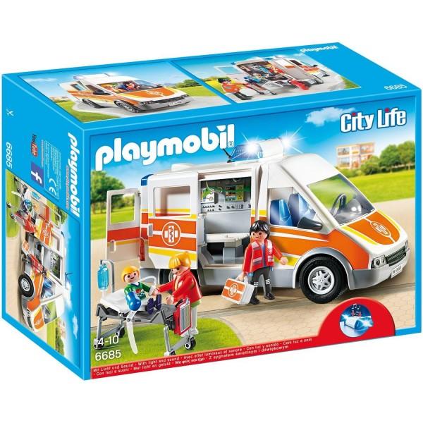 Playmobil 6685 Krankenwagen mit Licht und Sound