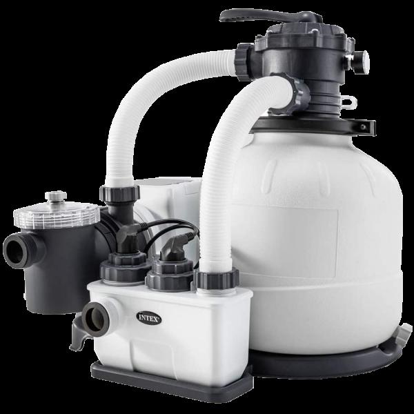 Intex 26676 Sandfilteranlage mit Chlorinator Salzwassersystem Filterpumpe 7.900l/h