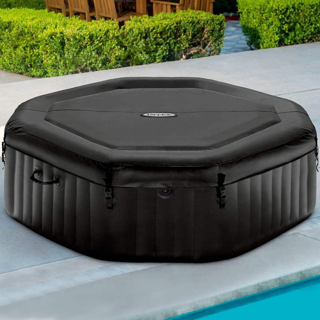 Intex 28458 Whirlpool Pure SPA Bubble Jet Massage 201x71cm aufblasbar 4 Personen