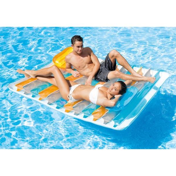 Intex Luftmatratze Schwimmliege Lounge für zwei Personen 198 X 160 cm 56897