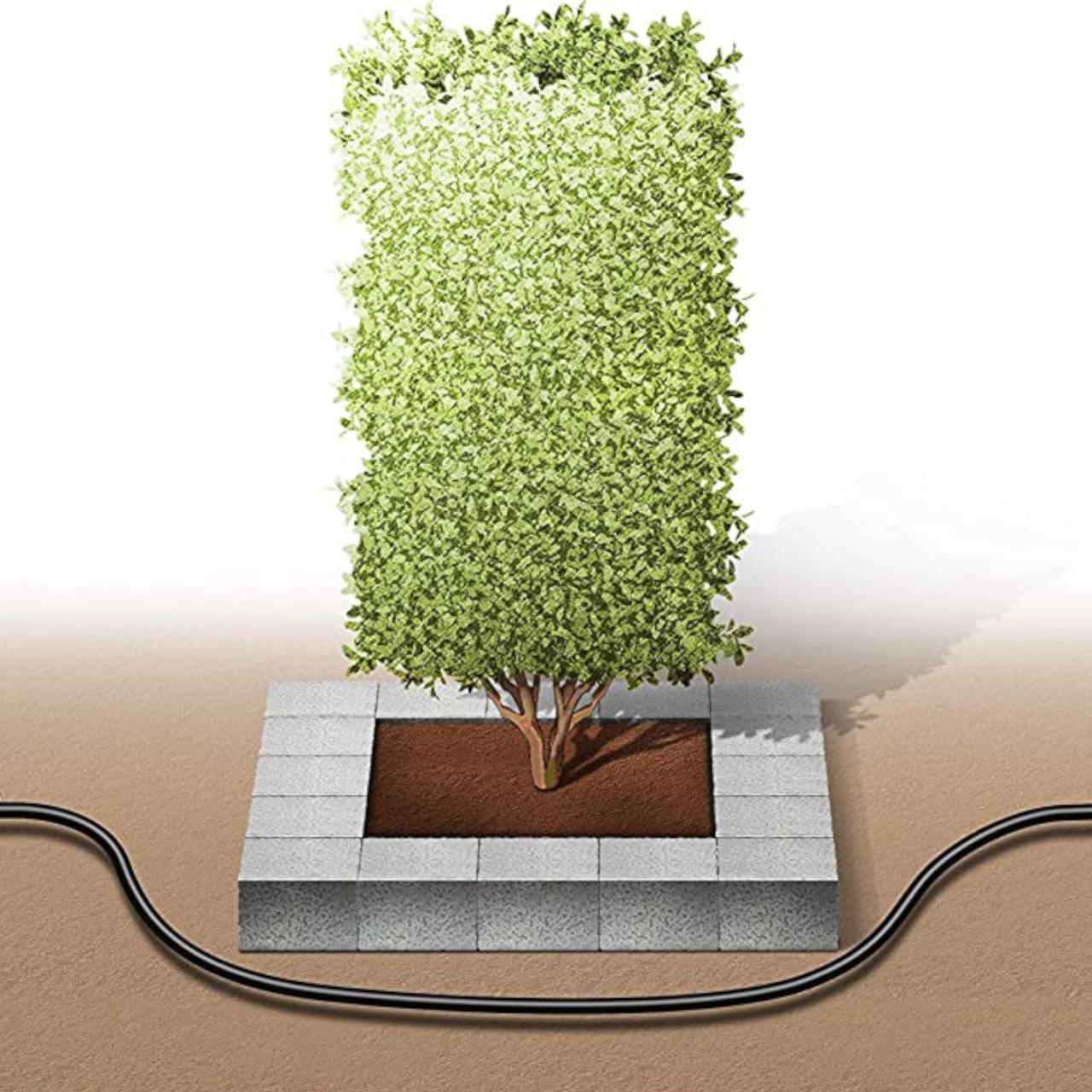 Gardena 13013-20 Micro-Drip-System Start Set Pflanzreihe L Tropfrohr 50m Garten