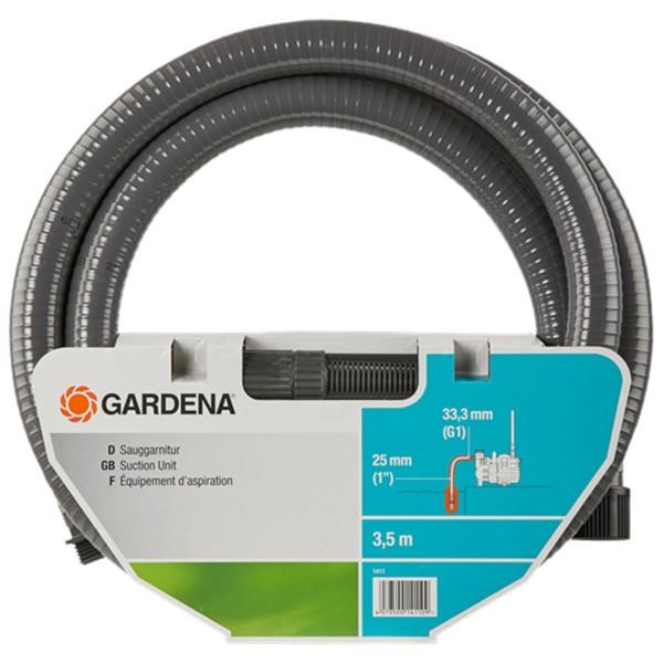 Gardena Sauggarnitur 3,5m 1411-20 Saugschlauch für Pumpen Anschlussfertig Ø25mm