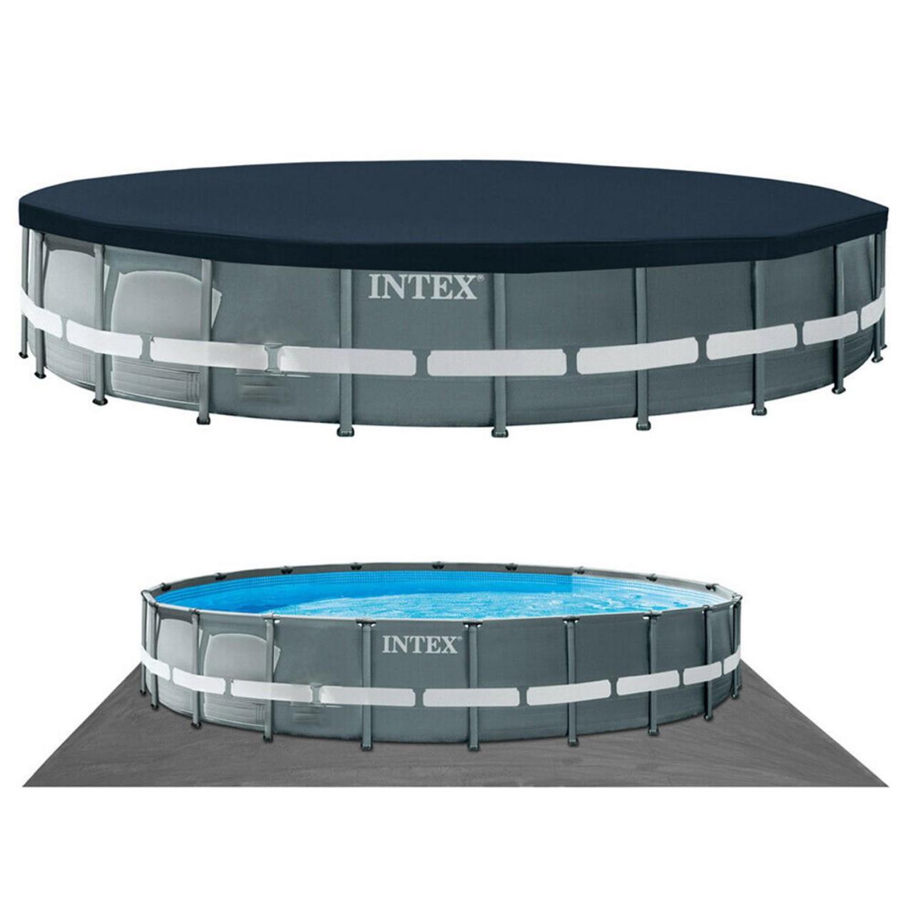 Intex Swimming Pool XTR Ultra Frame Pool Set Ø610x122cm Rondo Komplett-Set 26334