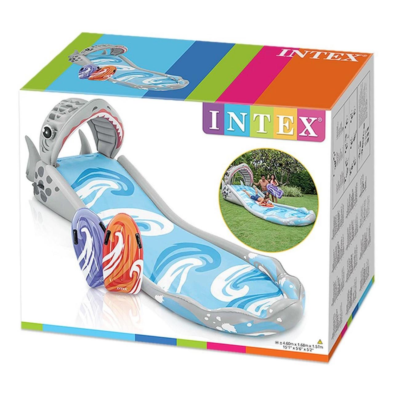 Intex Wasserrutsche Playcenter Surf'n Slide Schwimmbecken 2 Surf-Matratzen 57159