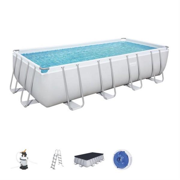 Bestway 56671 Power Steel Rectangular Pool Set 488x244x122cm