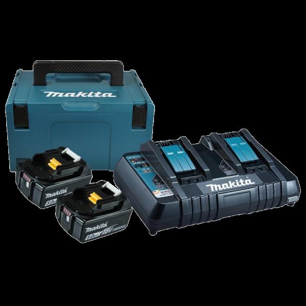 Makita 197629-2 Power Source Kit LXT im MAKPAC Gr.3 2xAkkus 1x Ladegerät 5Ah 90W