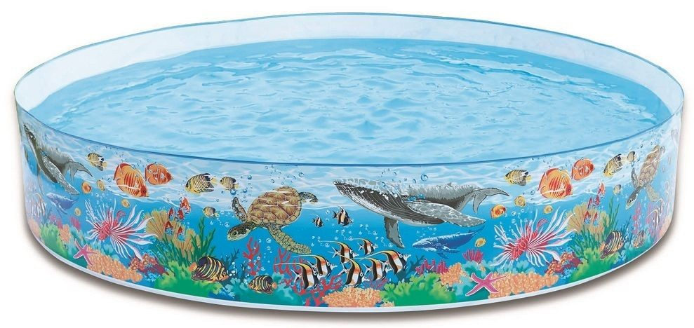 Intex 58472NP Snap-Set Coral Reef Pool 244 x 46 cm Planschbecken Kinderbecken