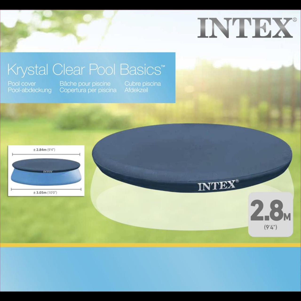 Intex Abdeckplane für Easy Set Pool Ø 305 cm Poolabdeckung Poolplane Vinylfolie