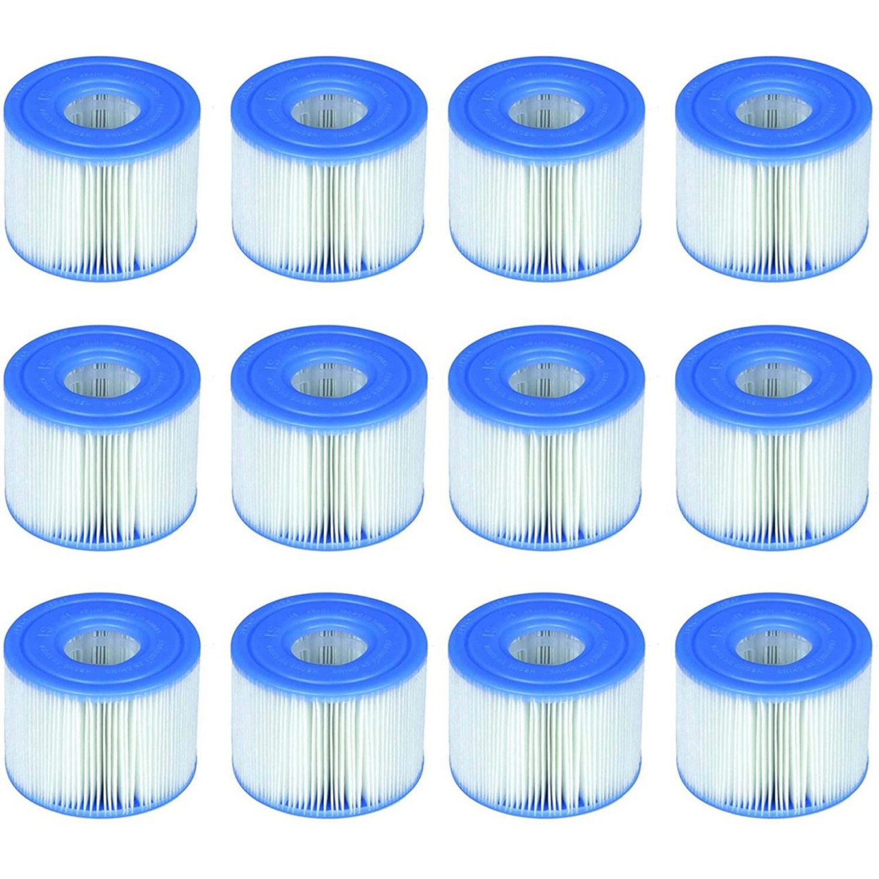 Intex 29001 Filterkartusche 12er Set für PureSpa Whirlpools S1 Ø 4,3 cm (innen)