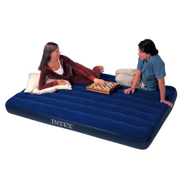 Intex Luftbett Gästebett Luftmatratze Camping 203 x 152 x 22 cm aufblasbar 68759