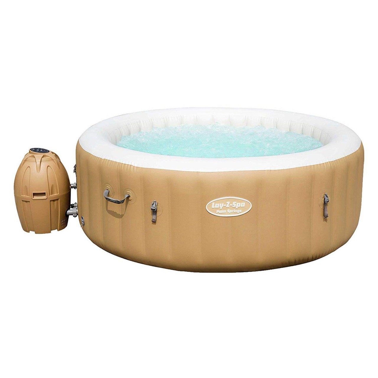 Bestway 54129 Whirlpool Lay Z Spa Palm Springs mit Heizung Massage 196x71 cm