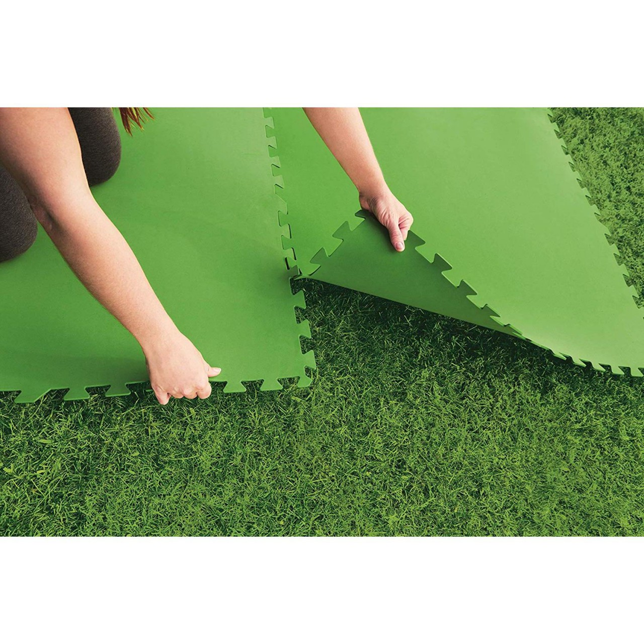 Bestway 58265 Flowclear Pool-Bodenschutzfliesen-Set 8 Stück á 81x81 cm grün