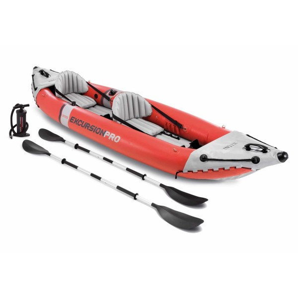 Intex Kajak Excursion Pro Schlauchboot Ruderboot Paddel + Pumpe aufblasbar 68309