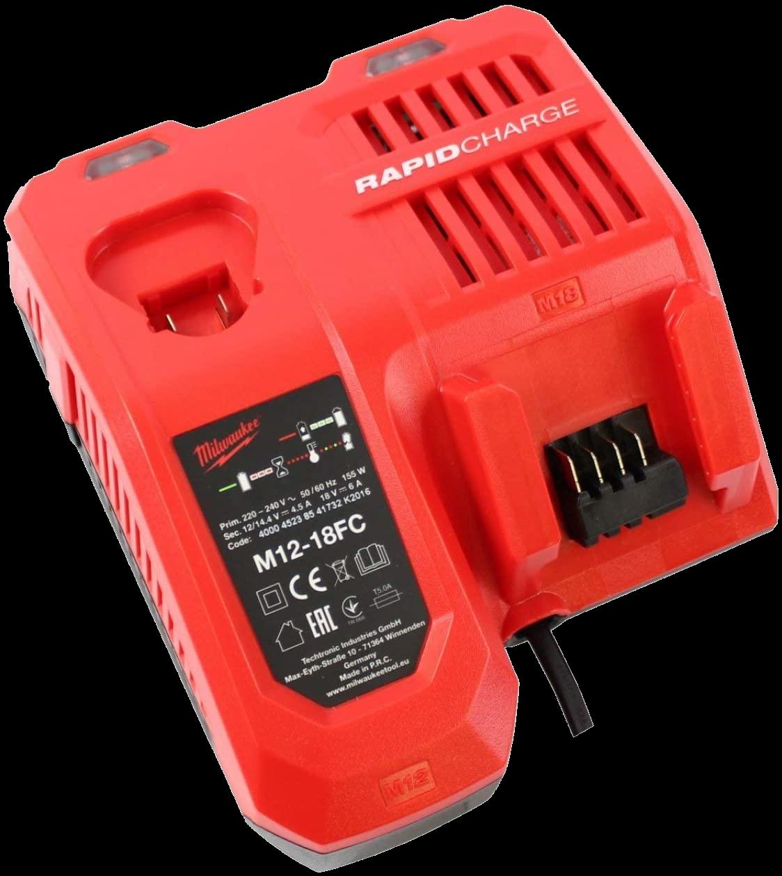 Milwaukee M12-18 FC Akku-Schnellladegerät Red Lithium