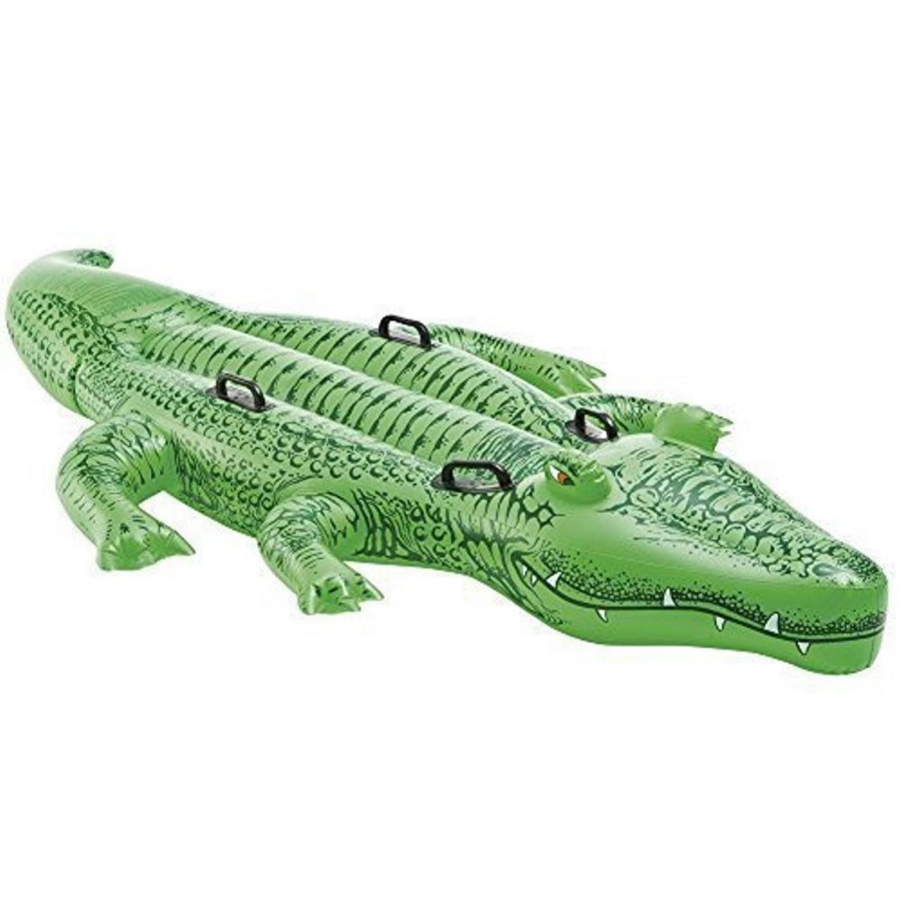 Intex Reittier Krokodil aufblasbar Luftmatratze 203 cm 58562