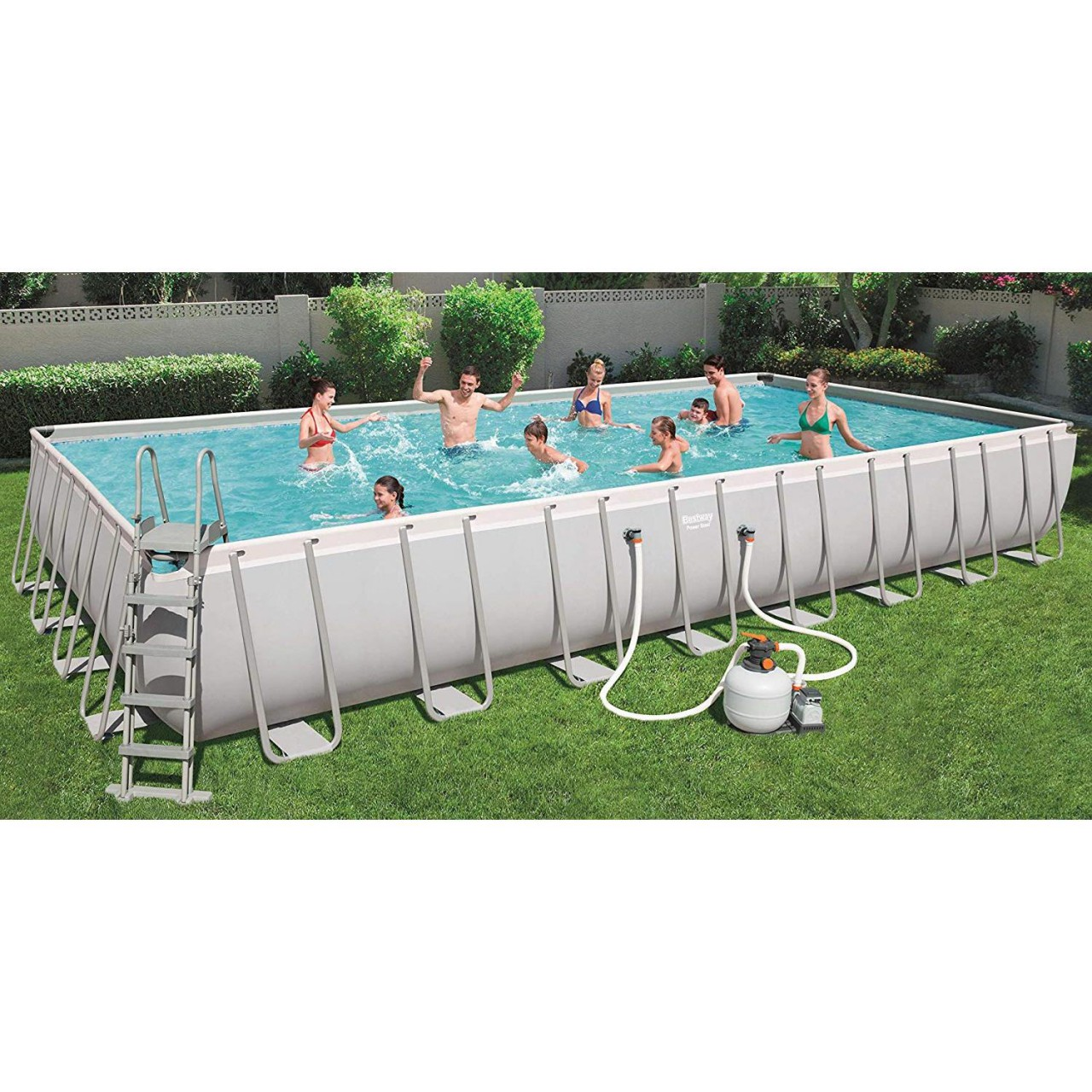 Bestway 56623 Power Steel Rectangular Pool Set 956x488x132 cm