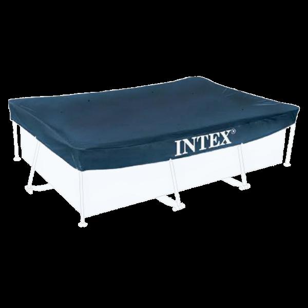 Intex 28038 Abdeckplane Pool Abdeckung 300x200 cm Rechteckig Überhang 20cm