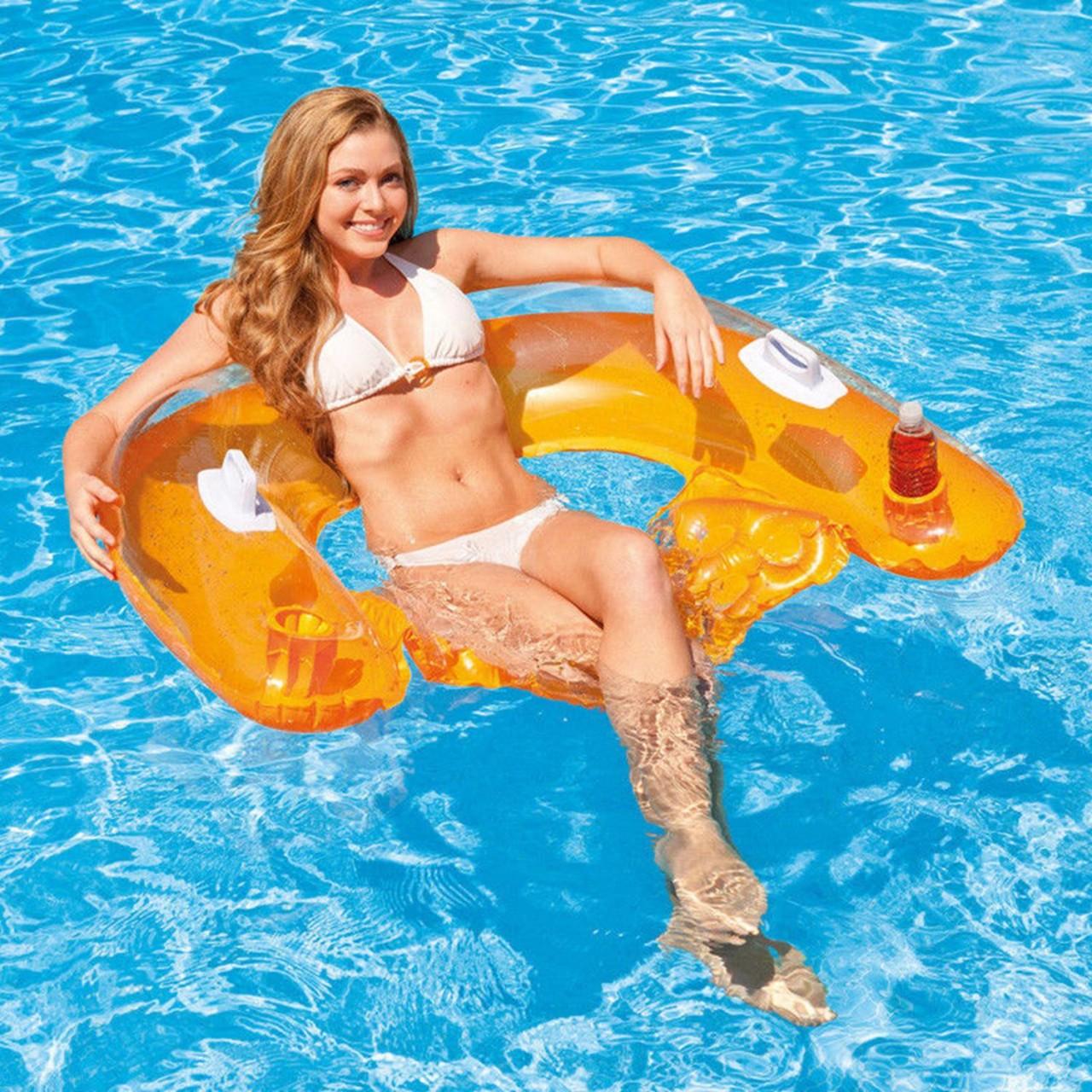 Intex Poolsessel Pool Schwimmliege Sitzmatratze Wasse Sitz-Lounge 58859