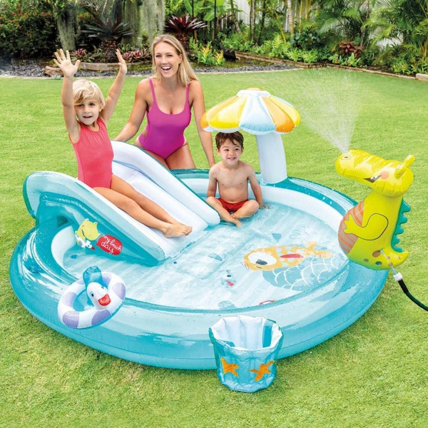 Intex Play Center Aufblasbarer Kinderpool Gator Schwimmbad 201x170x84 cm 57165