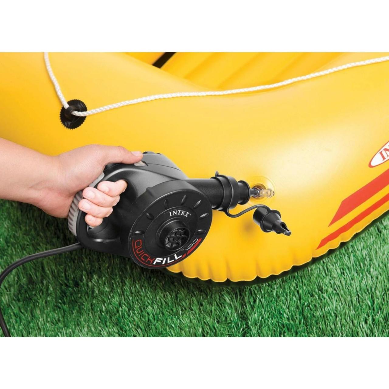 Intex 66624 Elektrische Luftpumpe für Matratze Luftbett Schlauchboot 230V Pumpe