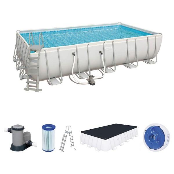 Bestway 56470 Power Steel Rectangular Pool Set 671x366x132 cm
