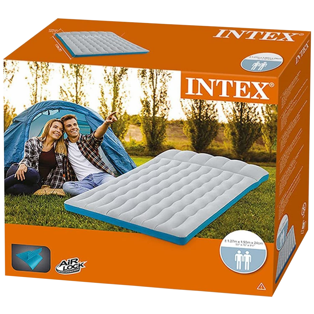 Intex Luftmatratze Doppelbett Camping Luftbett aufblasbar 193x127x24cm 67999