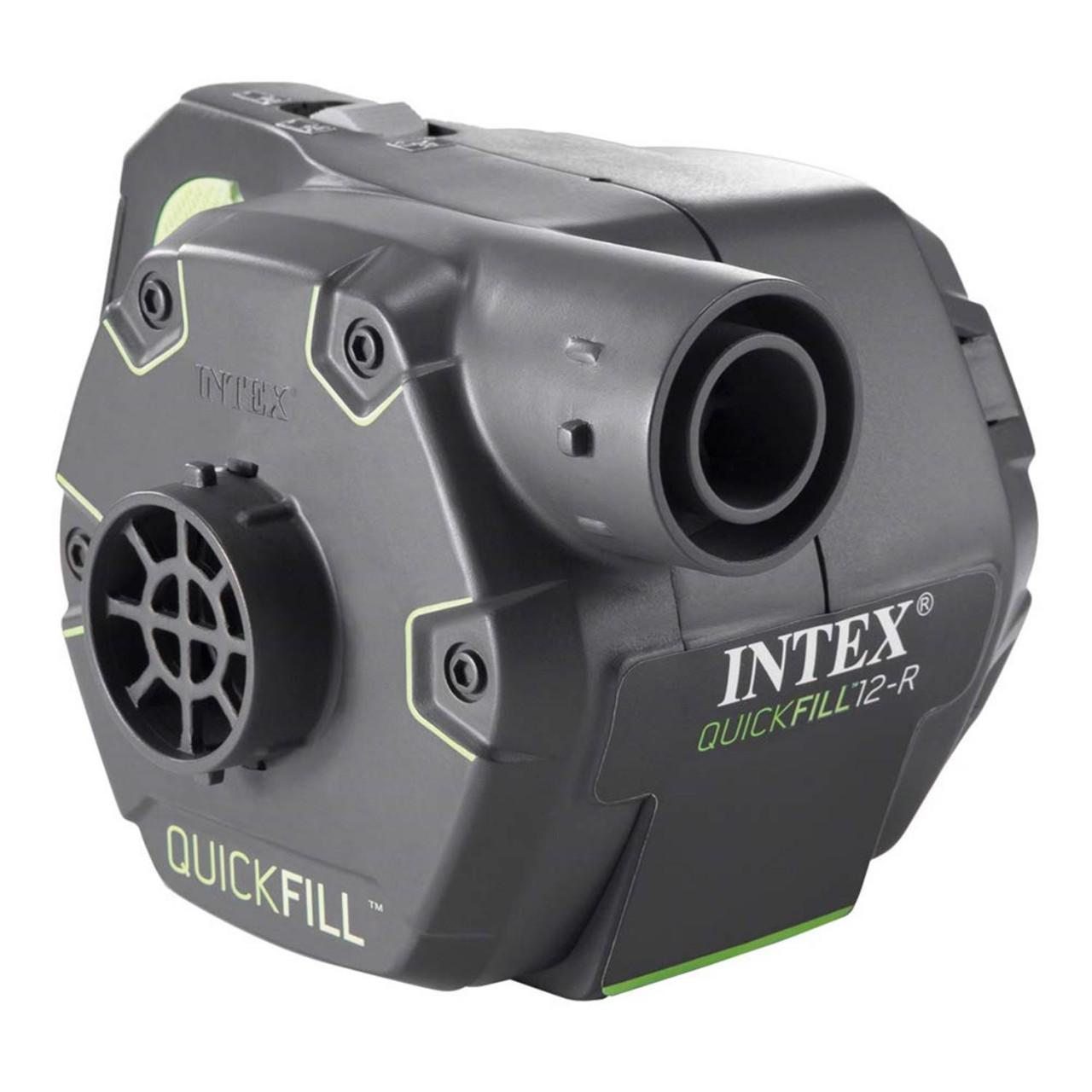 Intex 66642 Elektrische Luftpumpe Pumpe aufladbar für Luftbett Badeinsel Adapter