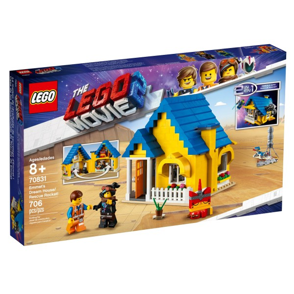 THE LEGO MOVIE 2 70831 Emmets Traumhaus/Rettungsrakete!