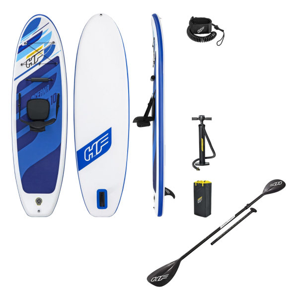 Bestway Hydro-Force 65350 SUP-Board Oceana Set Paddelboard aufblasbar 305x84x12