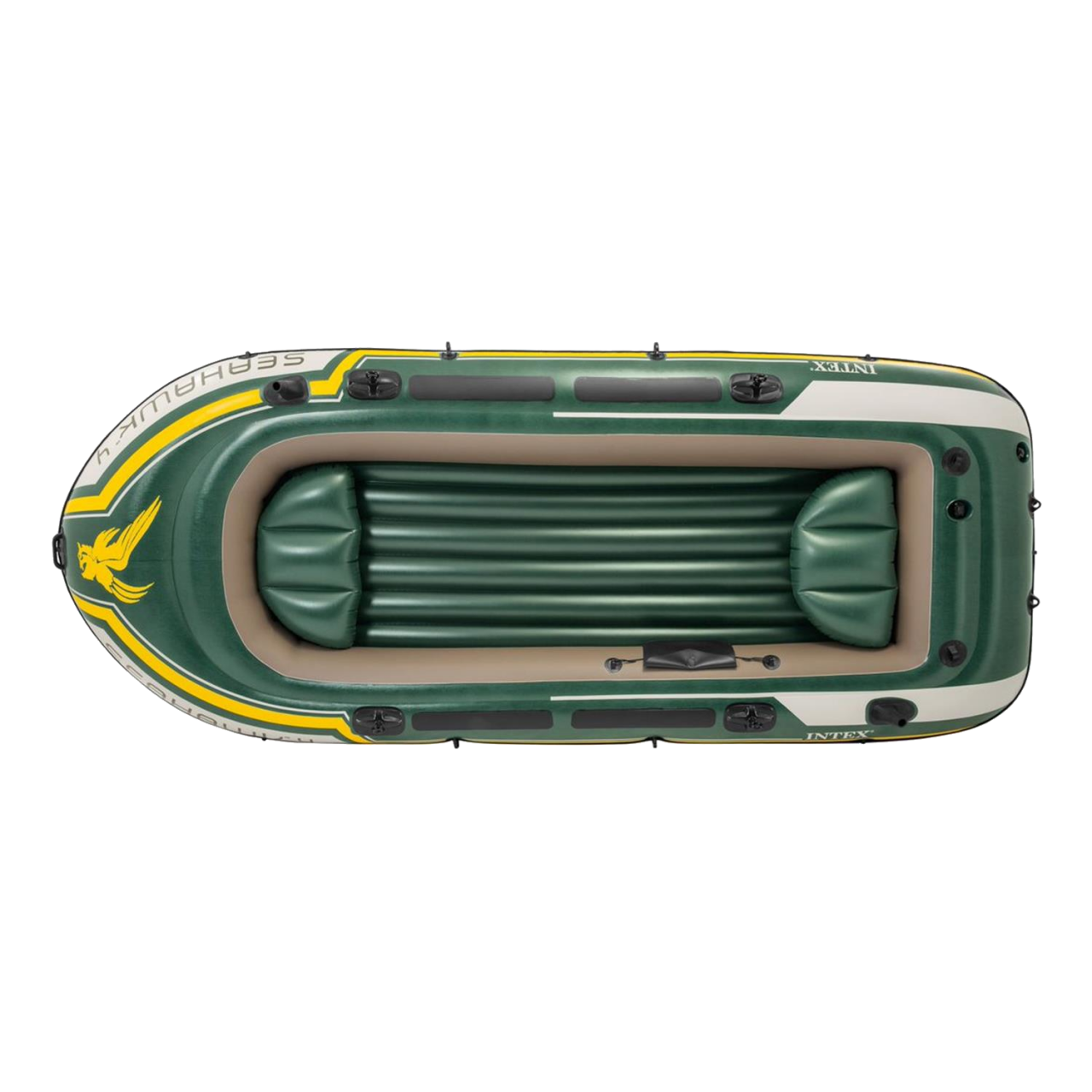 Intex 68351 Schlauchboot Seahawk 4 Ruderboot Set Angelboot inkl. Pumpe Paddel