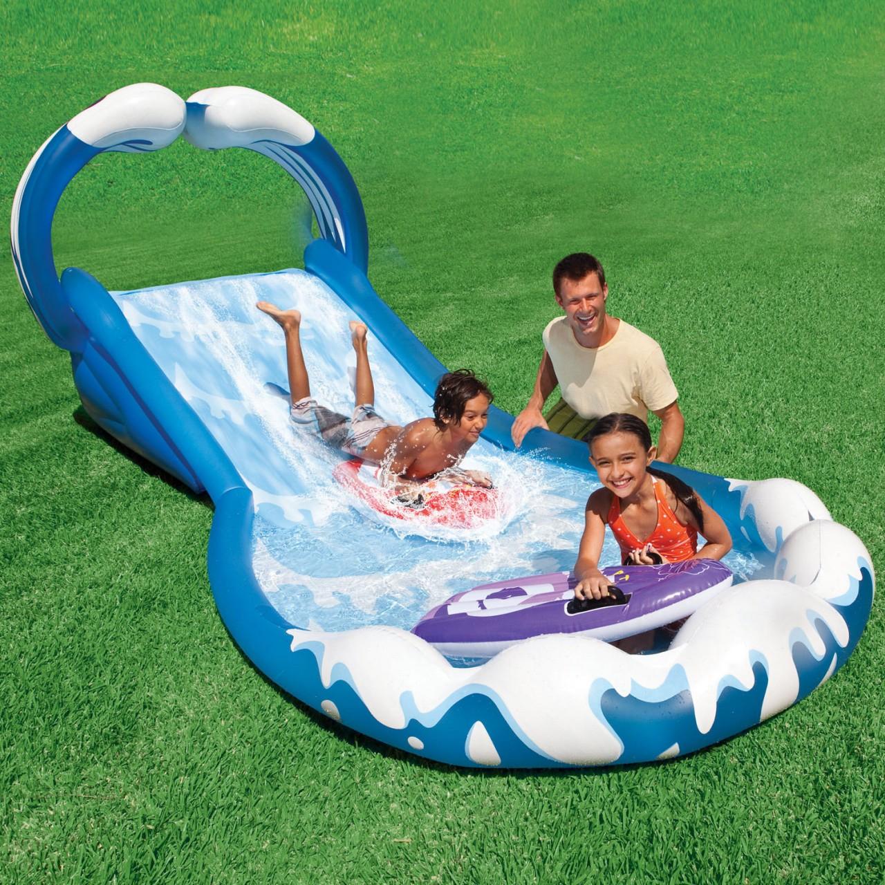 Intex 57469 Wasserrutsche Garten Playcenter Schwimmbecken +2 Surf Matratzen