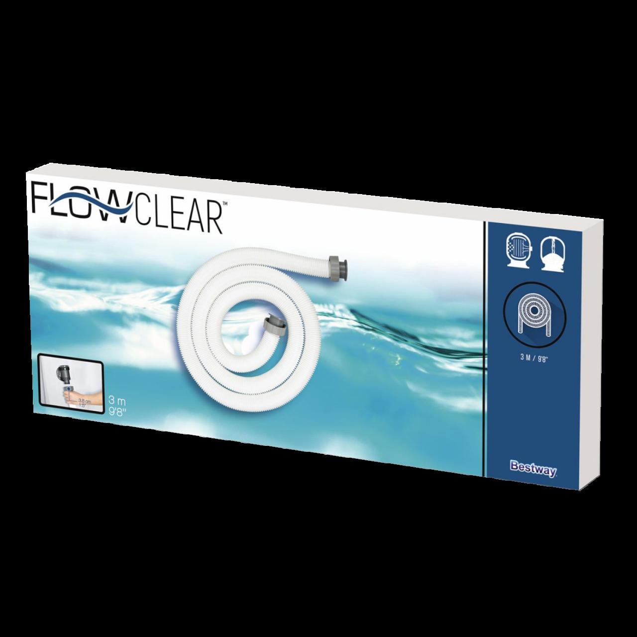 Bestway Flowclear Schlauch Universal Ø38mm Poolschlauch Pumpenschlauch 3m 58368