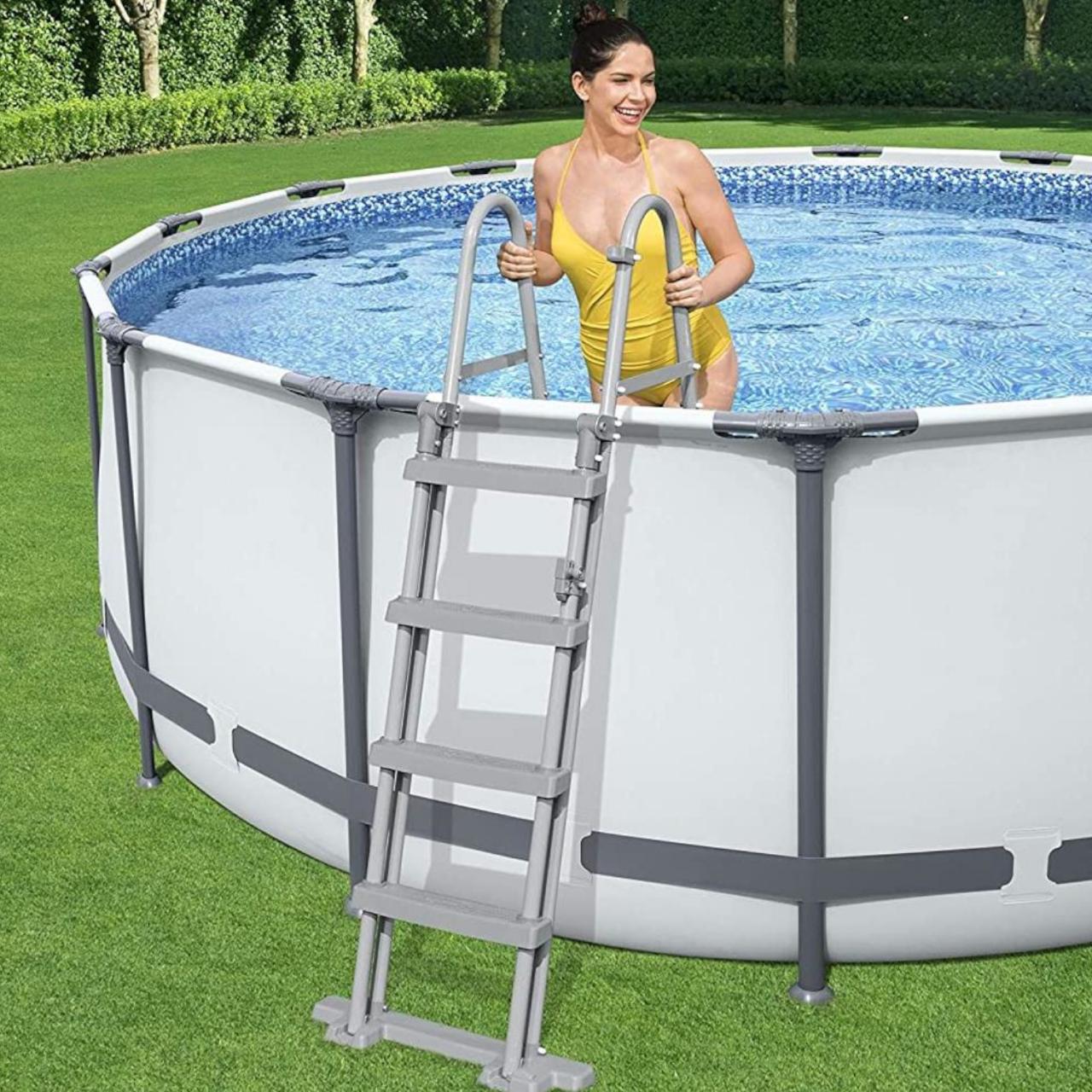Bestway 58331 Poolleiter Sicherheitsleiter Leiter 122 cm Schwimmbadleiter