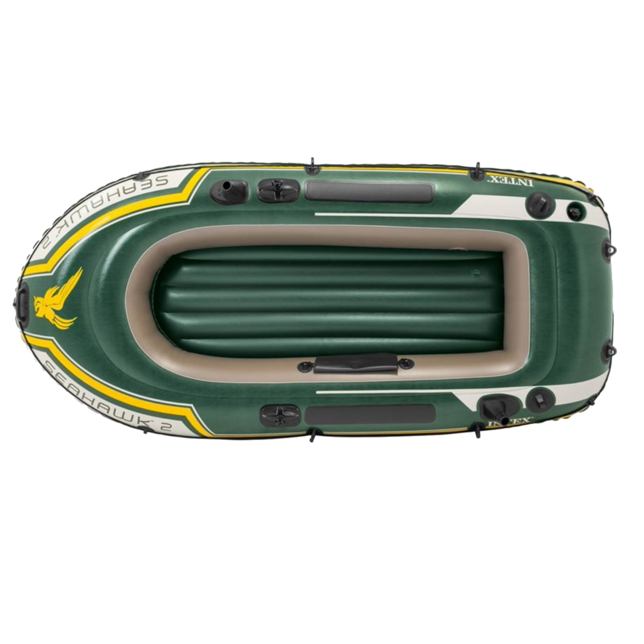 Intex 68347 Schlauchboot Set Seahawk 2 Ruderboot Angelboot +Paddel Pumpe