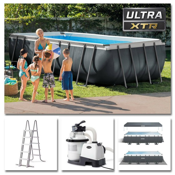 Intex Swimming Pool Ultra Frame Pool Set 549x274x132cm XTR Schwimmbad Sandfilter