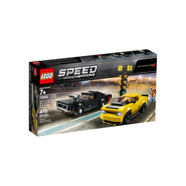LEGO SPEED CHAMPIONS 75893 Dodge Challenger SRT Demon und 1970 Dodge Charger R/T
