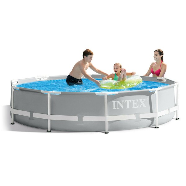 Intex 26700 Swimming Pool Frame Prism Ø305 x 76 cm Schwimmbecken Schwimmbad Pool