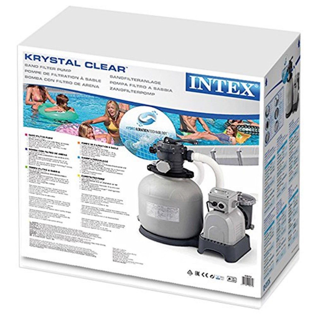 Intex 28652 Sandfilteranlage 12m³ Pool Pumpe Filterpumpe Krystal Clear