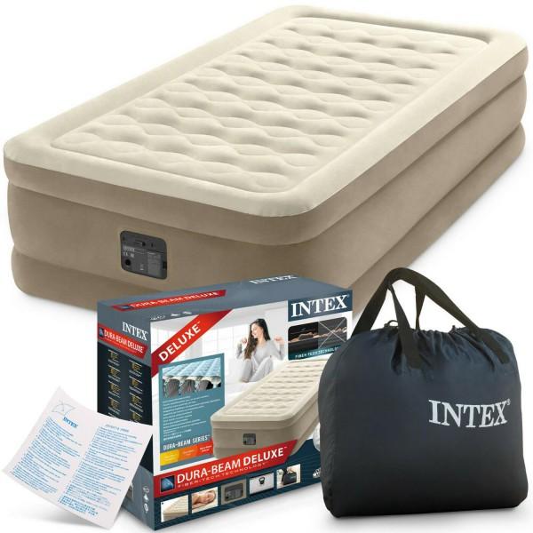 Intex Luftbett Pumpe Gästebett Luftmatratze selbstaufblasend 99x191x46cm 64426
