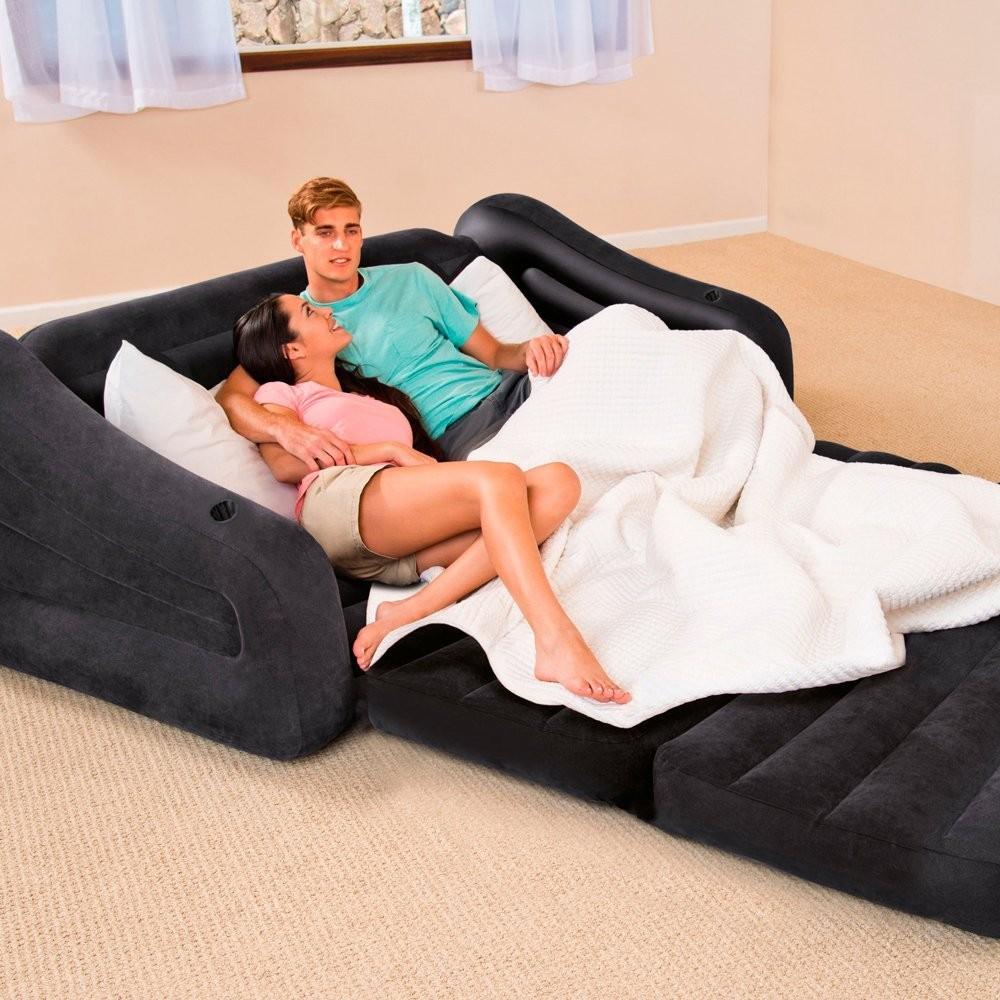 Intex 68566 Sofa Couch Ausziehbar Doppelbett Luftbett 193x221x66 aufblasbar
